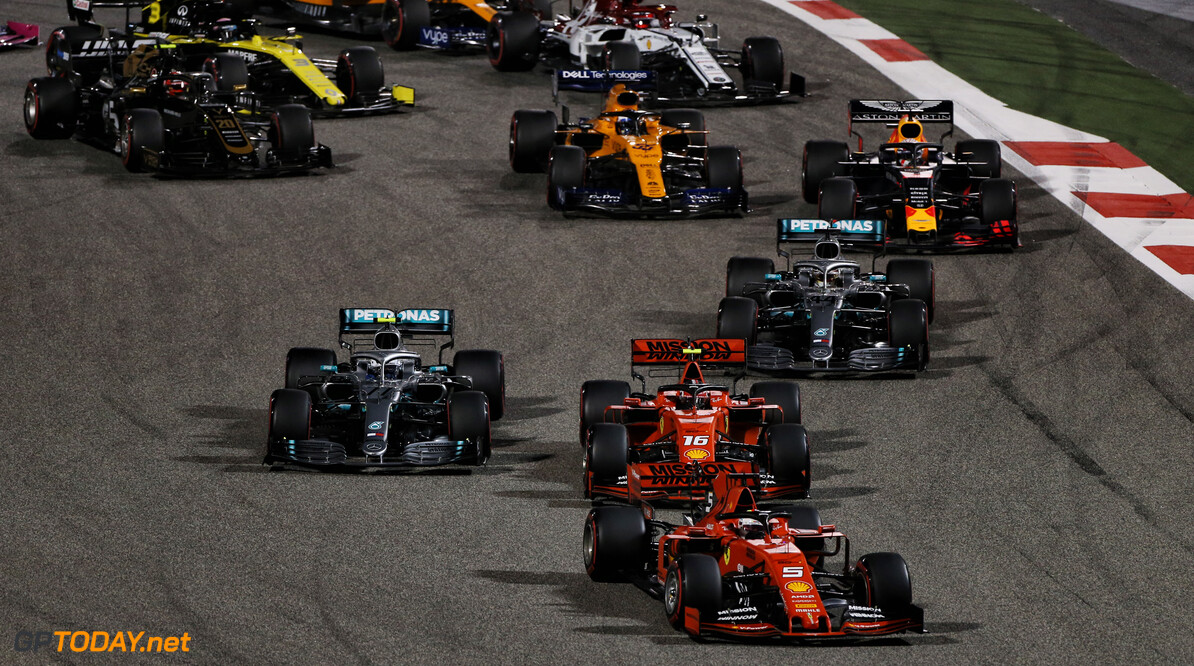 Who's racing in the Bahrain Virtual Grand Prix?