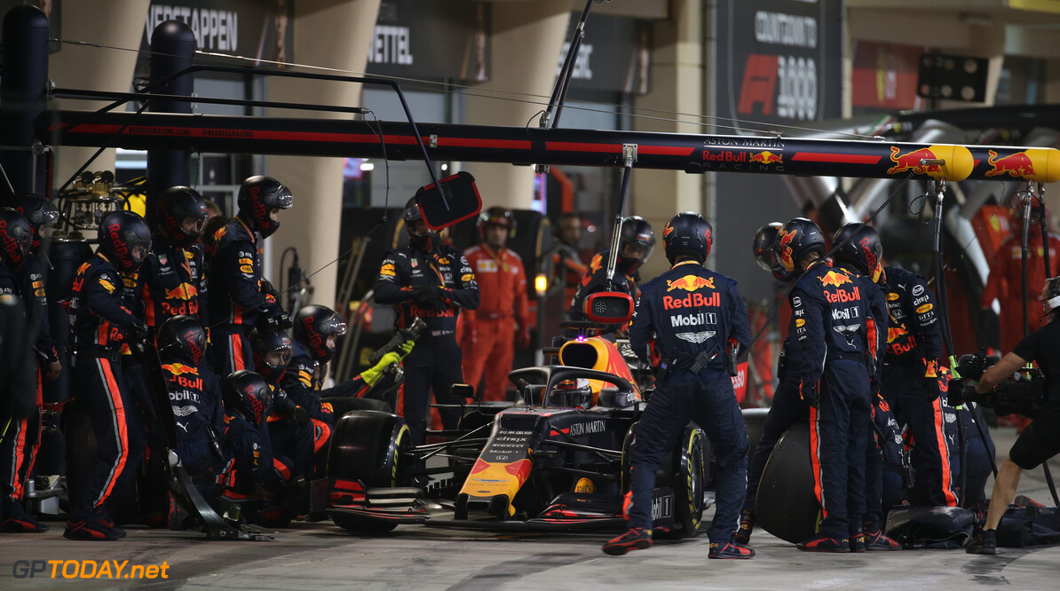 Formula One World Championship Max Verstappen (NLD) Red Bull Racing RB15 pit stop. 31.03.2019. Formula 1 World Championship, Rd 2, Bahrain Grand Prix, Sakhir, Bahrain, Race Day. - www.xpbimages.com, EMail: requests@xpbimages.com - copy of publication required for printed pictures. Every used picture is fee-liable. (C) Copyright: Batchelor / XPB Images Motor Racing - Formula One World Championship - Bahrain Grand Prix - Race Day - Sakhir, Bahrain xpbimages.com Sakhir Bahrain  Formel1 Formel F1 Formula 1 Formula1 GP Grand Prix one Bahrain International Circuit BIC Manama Bahrain Sakhir Sunday March 31 03 3 2019 Race Action Track