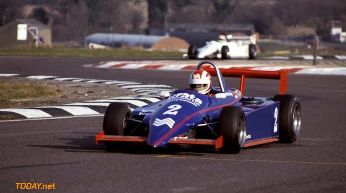 British Formula Three Championship Allen Berg (CAN) Ralt Toyota RT3/83. British F3 Championship, Thruxton, England, 1983.      Action Britain British British Formula Three Championship England F3 Formula 3 Formula Three Thruxton UK United Kingdom