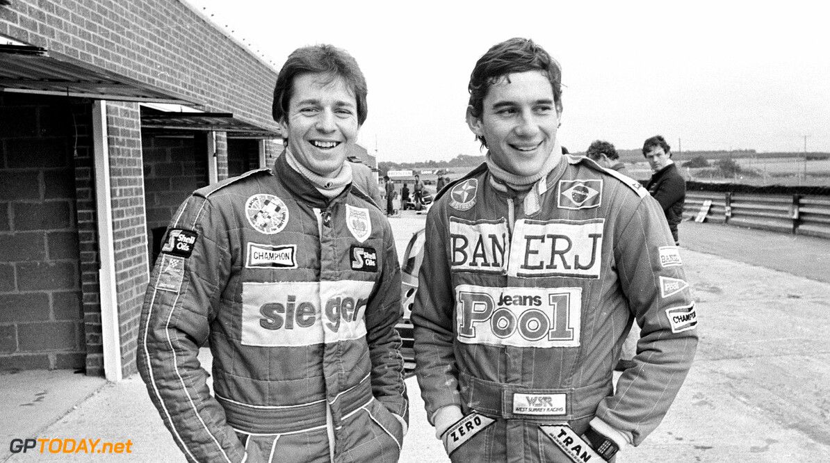 DB_4_Ayrton_Senna.jpg Ayrton Senna pictured with Martin Brundle at Snetterton Race Circuit in 1983, when they were arch rivals on the track.