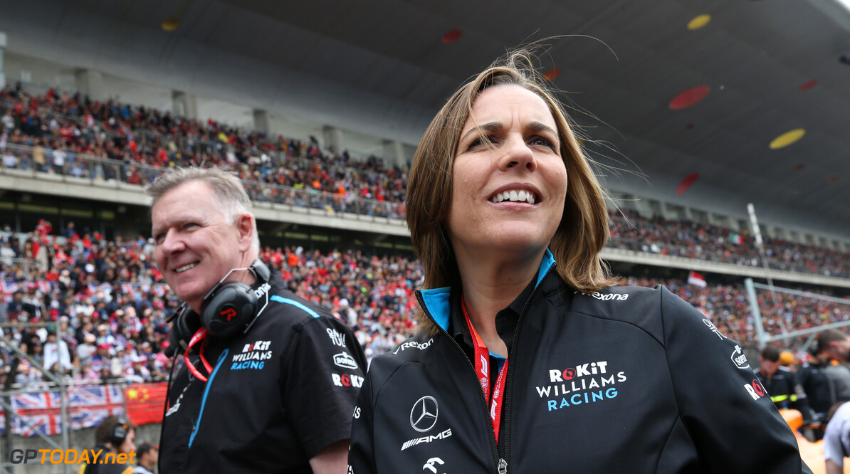Formula One World Championship Claire Williams (GBR) Williams Racing Deputy Team Principal at the Fans' Forum 14.04.2019. Formula 1 World Championship, Rd 3, Chinese Grand Prix, Shanghai, China, Race Day. - www.xpbimages.com, EMail: requests@xpbimages.com - copy of publication required for printed pictures. Every used picture is fee-liable. (C) Copyright: Batchelor / XPB Images Motor Racing - Formula One World Championship - Chinese Grand Prix - Race Day - Shanghai, China xpbimages.com Shanghai China  Formel1 Formel F1 Formula 1 Formula1 GP Grand Prix one Sunday Shanghai International Circuit China Chinese Shanghai April 14 04 4 2019 Grid Portrait