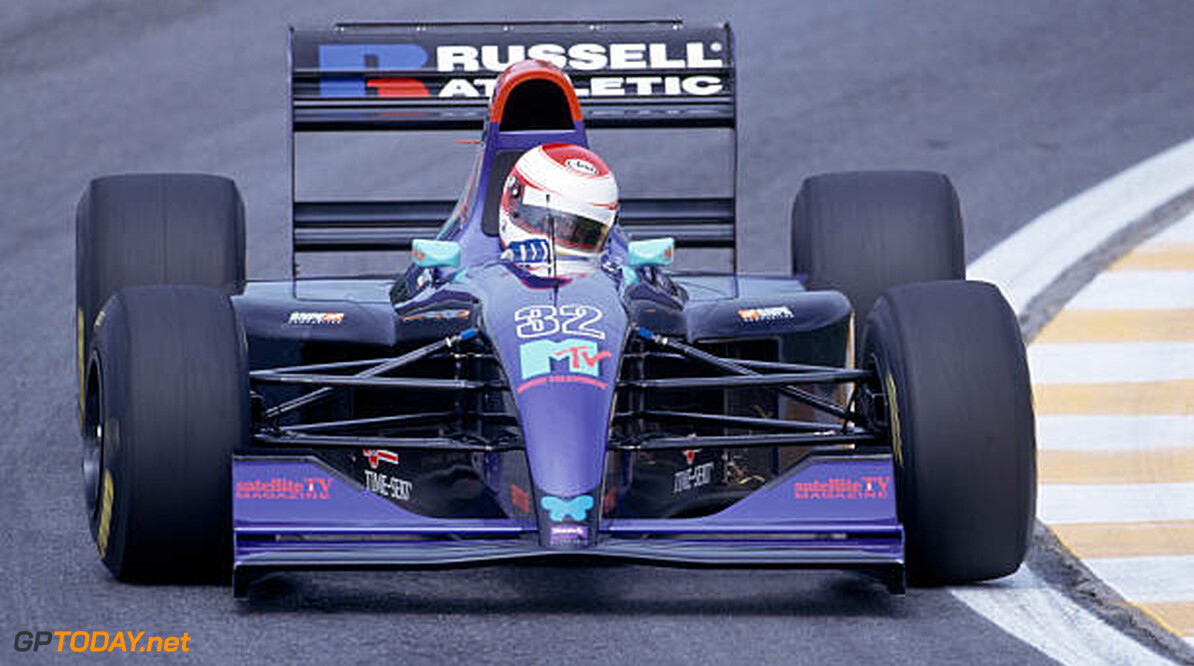 Roland Ratzenberger of the Simtek-Ford Team in action during the Brazilian Grand Prix held at the Autodromo Jose Carlos Pace in Sao Paulo, Brazil on the 27th March, 1994.  (Photo by Professional Sport/Popperfoto/Getty Images)  Professional Sport