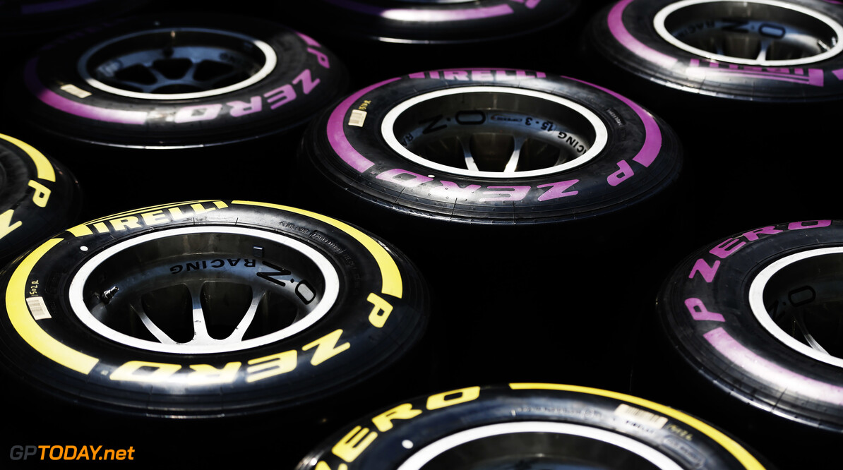 2019 Baku BAKU CITY CIRCUIT, AZERBAIJAN - APRIL 25: Pirelli tyres during the Baku at Baku City Circuit on April 25, 2019 in Baku City Circuit, Azerbaijan. (Photo by Joe Portlock / LAT Images / FIA F2 Championship) 2019 Baku Joe Portlock  Azerbaijan  F2 Formula 2