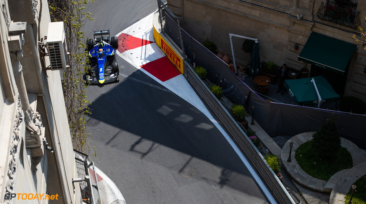 2019 Baku BAKU CITY CIRCUIT, AZERBAIJAN - APRIL 26: Louis Deletraz (CHE, CARLIN) during the Baku at Baku City Circuit on April 26, 2019 in Baku City Circuit, Azerbaijan. (Photo by Joe Portlock / LAT Images / FIA F2 Championship) 2019 Baku Joe Portlock  Azerbaijan  Practise F2 Formula 2