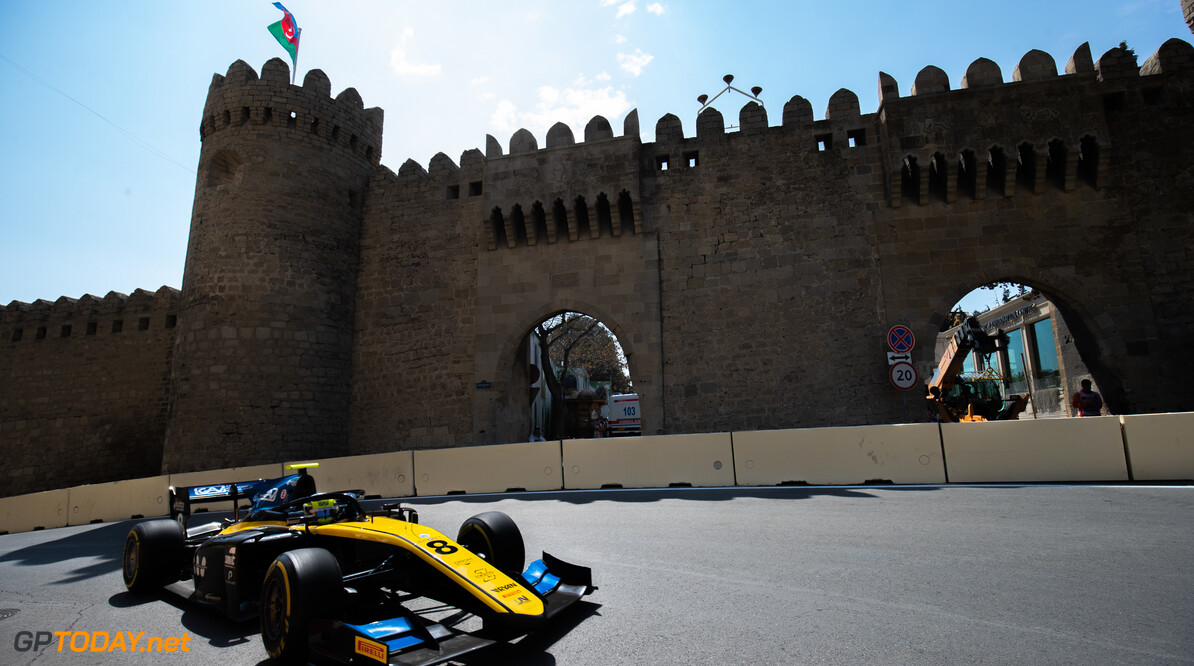 2019 Baku BAKU CITY CIRCUIT, AZERBAIJAN - APRIL 26: Luca Ghiotto (ITA, UNI VIRTUOSI) during the Baku at Baku City Circuit on April 26, 2019 in Baku City Circuit, Azerbaijan. (Photo by Joe Portlock / LAT Images / FIA F2 Championship) 2019 Baku Joe Portlock  Azerbaijan  Practise F2 Formula 2