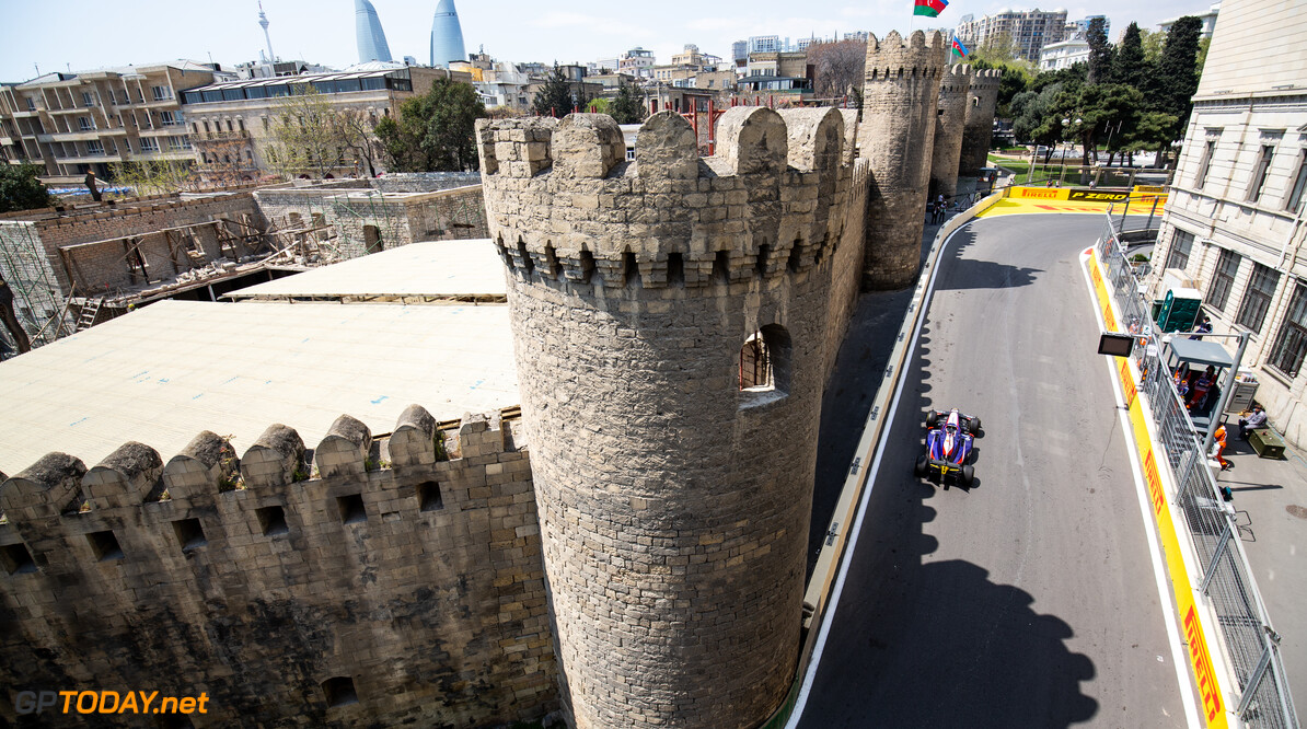 2019 Baku BAKU CITY CIRCUIT, AZERBAIJAN - APRIL 26: Nobuharu Matsushita (JPN, CARLIN) during the Baku at Baku City Circuit on April 26, 2019 in Baku City Circuit, Azerbaijan. (Photo by Joe Portlock / LAT Images / FIA F2 Championship) 2019 Baku Joe Portlock  Azerbaijan  Practise F2 Formula 2