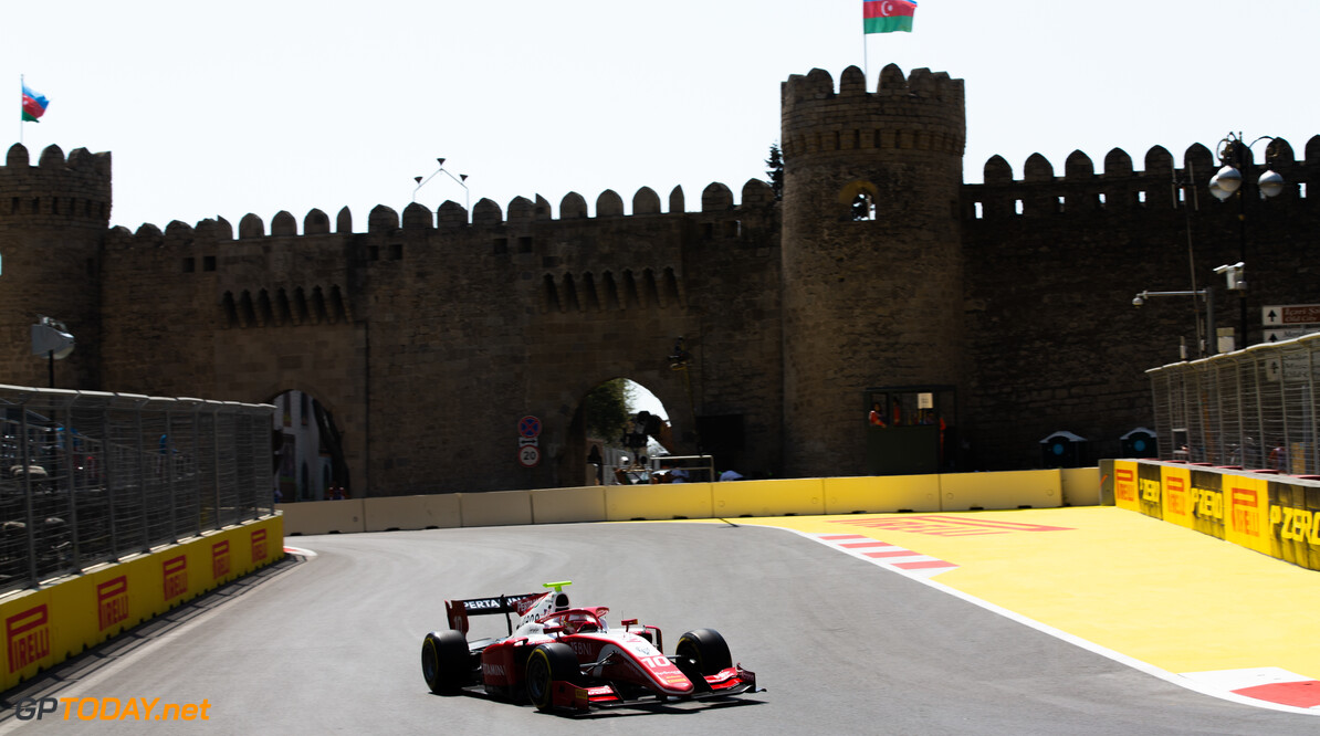 2019 Baku BAKU CITY CIRCUIT, AZERBAIJAN - APRIL 26: Sean Gelael (IDN,PREMA RACING) during the Baku at Baku City Circuit on April 26, 2019 in Baku City Circuit, Azerbaijan. (Photo by Joe Portlock / LAT Images / FIA F2 Championship) 2019 Baku Joe Portlock  Azerbaijan  Practise F2 Formula 2
