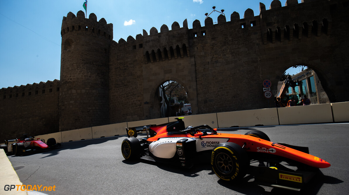 2019 Baku BAKU CITY CIRCUIT, AZERBAIJAN - APRIL 26: Mahaveer Raghunathan (IND, MP MOTORSPORT) during the Baku at Baku City Circuit on April 26, 2019 in Baku City Circuit, Azerbaijan. (Photo by Joe Portlock / LAT Images / FIA F2 Championship) 2019 Baku Joe Portlock  Azerbaijan  Practise F2 Formula 2