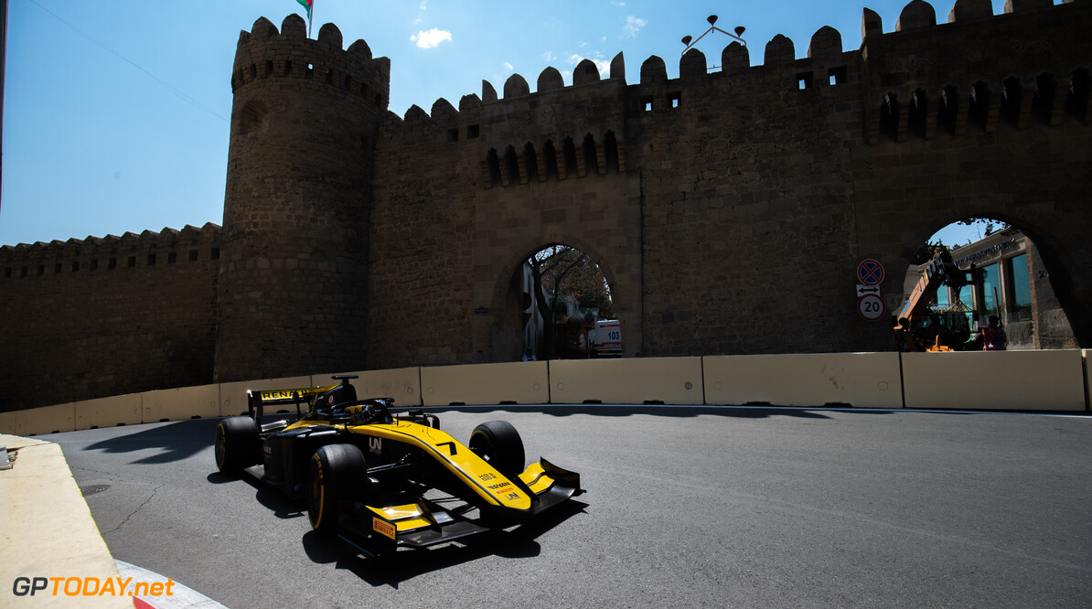 2019 Baku BAKU CITY CIRCUIT, AZERBAIJAN - APRIL 26: Guanyu Zhou (CHN, UNI VIRTUOSI) during the Baku at Baku City Circuit on April 26, 2019 in Baku City Circuit, Azerbaijan. (Photo by Joe Portlock / LAT Images / FIA F2 Championship) 2019 Baku Joe Portlock  Azerbaijan  Practise F2 Formula 2