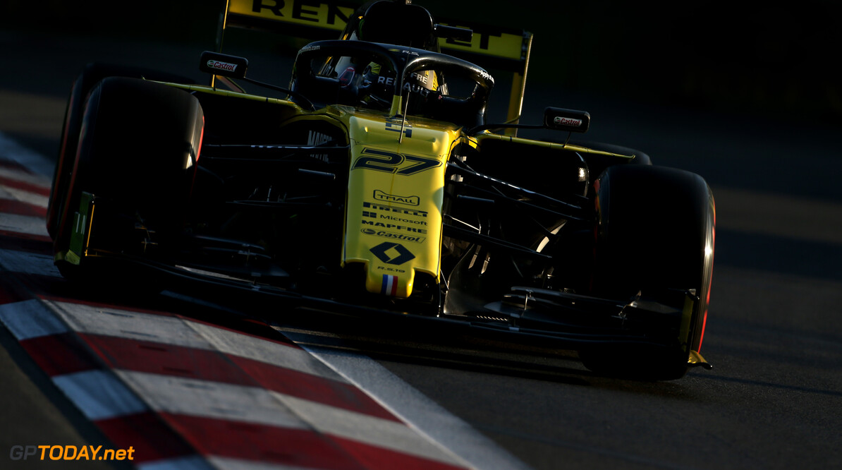 Formula One World Championship Nico Hulkenberg (GER), Renault Sport F1 Team  26.04.2019. Formula 1 World Championship, Rd 4, Azerbaijan Grand Prix, Baku Street Circuit, Azerbaijan, Practice Day. - www.xpbimages.com, EMail: requests@xpbimages.com - copy of publication required for printed pictures. Every used picture is fee-liable. (C) Copyright: Charniaux / XPB Images Motor Racing - Formula One World Championship - Azerbaijan Grand Prix - Practice Day - Baku, Azerbaijan XPB Images Baku Azerbaijan  Formel1 Formel F1 Formula 1 Formula1 GP Grand Prix one Circuit Baku Azerbaijan Friday April 26 04 4 2019 Action Track