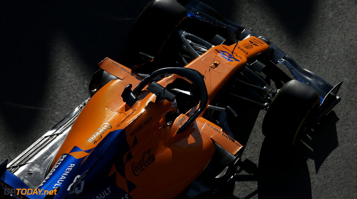 Formula One World Championship Carlos Sainz Jr (ESP), McLaren F1 Team  26.04.2019. Formula 1 World Championship, Rd 4, Azerbaijan Grand Prix, Baku Street Circuit, Azerbaijan, Practice Day. - www.xpbimages.com, EMail: requests@xpbimages.com - copy of publication required for printed pictures. Every used picture is fee-liable. (C) Copyright: Charniaux / XPB Images Motor Racing - Formula One World Championship - Azerbaijan Grand Prix - Practice Day - Baku, Azerbaijan XPB Images Baku Azerbaijan  Formel1 Formel F1 Formula 1 Formula1 GP Grand Prix one Circuit Baku Azerbaijan Friday April 26 04 4 2019 Action Track
