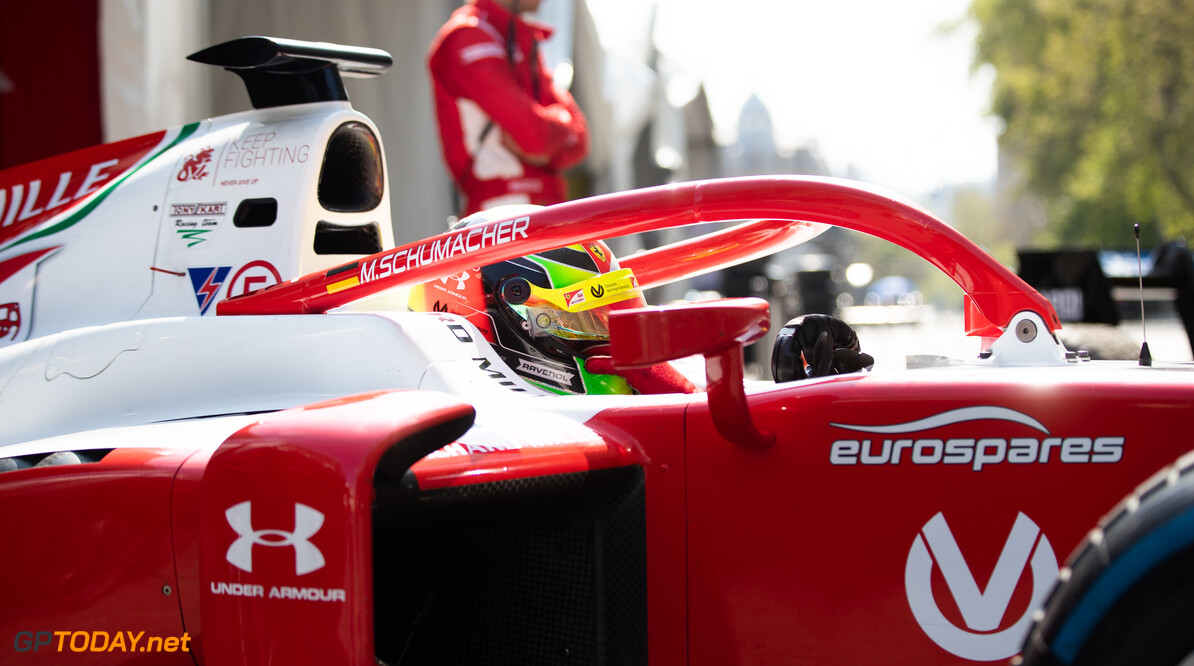 2019 Baku BAKU CITY CIRCUIT, AZERBAIJAN - APRIL 26: Mick Schumacher (DEU, PREMA RACING) during the Baku at Baku City Circuit on April 26, 2019 in Baku City Circuit, Azerbaijan. (Photo by Joe Portlock / LAT Images / FIA F2 Championship) 2019 Baku Joe Portlock  Azerbaijan  Qualifying Quali F2 Formula 2