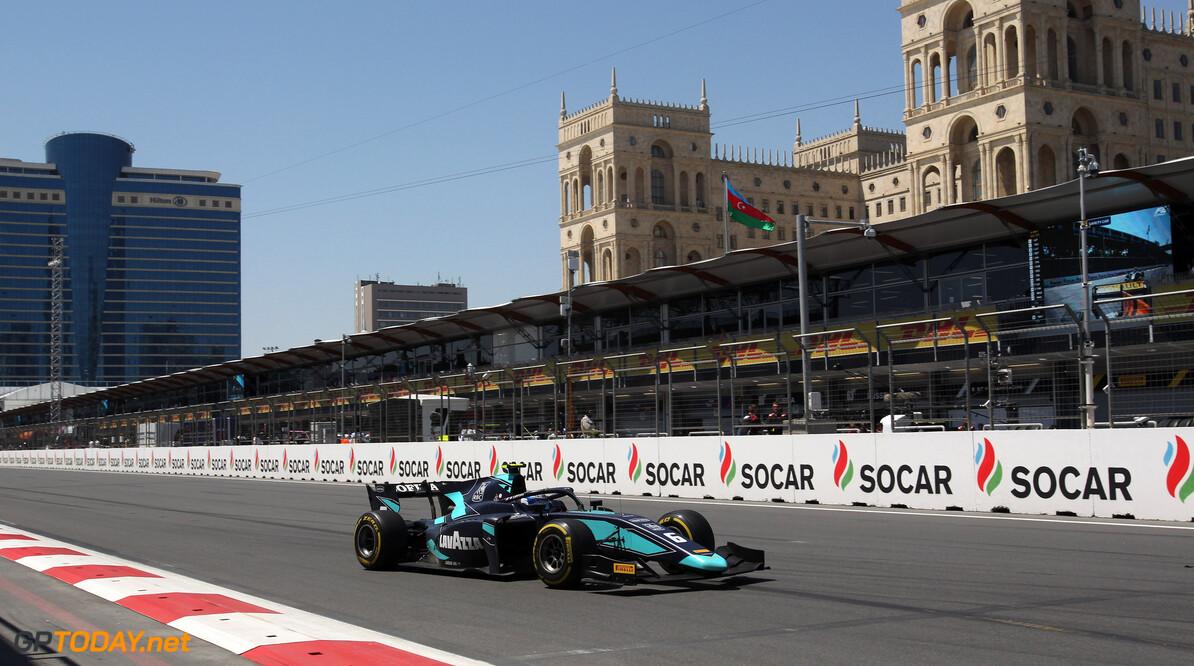 Latifi wins incident filled Baku sprint race