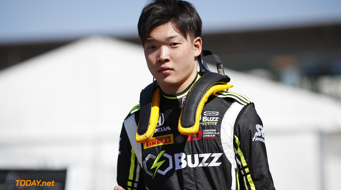 2019 Barcelona CIRCUIT DE BARCELONA-CATALUNYA, SPAIN - MAY 09: Teppei Natori (JPN, Carlin Buzz Racing) during the Barcelona at Circuit de Barcelona-Catalunya on May 09, 2019 in Circuit de Barcelona-Catalunya, Spain. (Photo by Joe Portlock / LAT Images / FIA F3 Championship) 2019 Barcelona Joe Portlock  Spain  Portrait F3 Formula 3 FIA F3