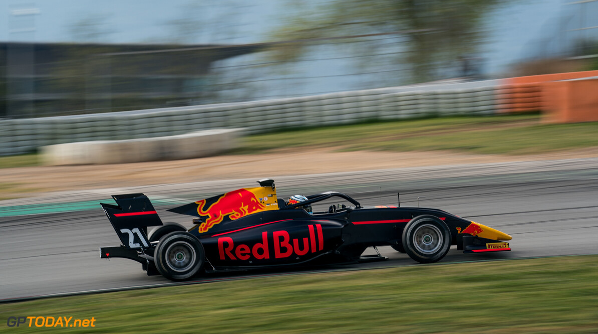 2019 Barcelona April testing CIRCUIT DE BARCELONA-CATALUNYA, SPAIN - APRIL 09: Juri Vips (EST) Hitech Grand Prix during the Barcelona April testing at Circuit de Barcelona-Catalunya on April 09, 2019 in Circuit de Barcelona-Catalunya, Spain. (Photo by Malcolm Griffiths / LAT Images / FIA F3 Championship) 2019 Barcelona April testing Malcolm Griffiths  Spain  action