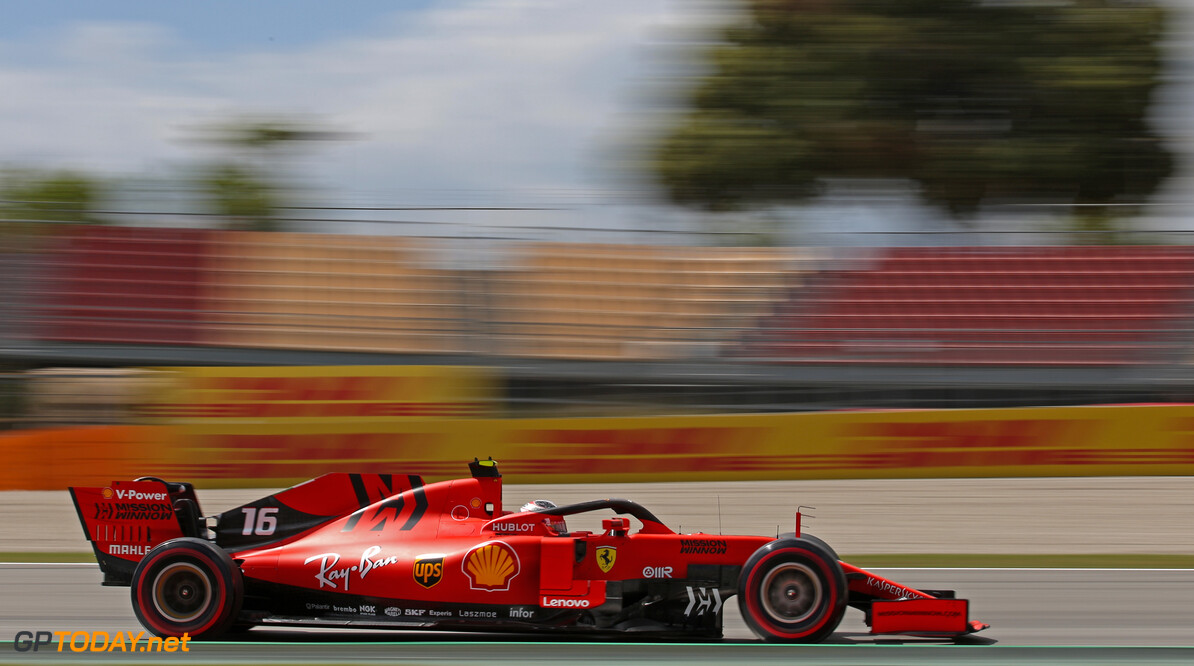 Formula One World Championship Charles Leclerc (FRA), Scuderia Ferrari  10.05.2019. Formula 1 World Championship, Rd 5, Spanish Grand Prix, Barcelona, Spain, Practice Day. - www.xpbimages.com, EMail: requests@xpbimages.com - copy of publication required for printed pictures. Every used picture is fee-liable. (C) Copyright: Charniaux / XPB Images Motor Racing - Formula One World Championship - Spanish Grand Prix - Practice Day - Barcelona, Spain XPB Images Barcelona Spain  Formel1 Formel F1 Formula 1 Formula1 GP Grand Prix one Circuit de Catalunya May Spanish Spain Montmelo Friday 10 05 5 2019 Action Track