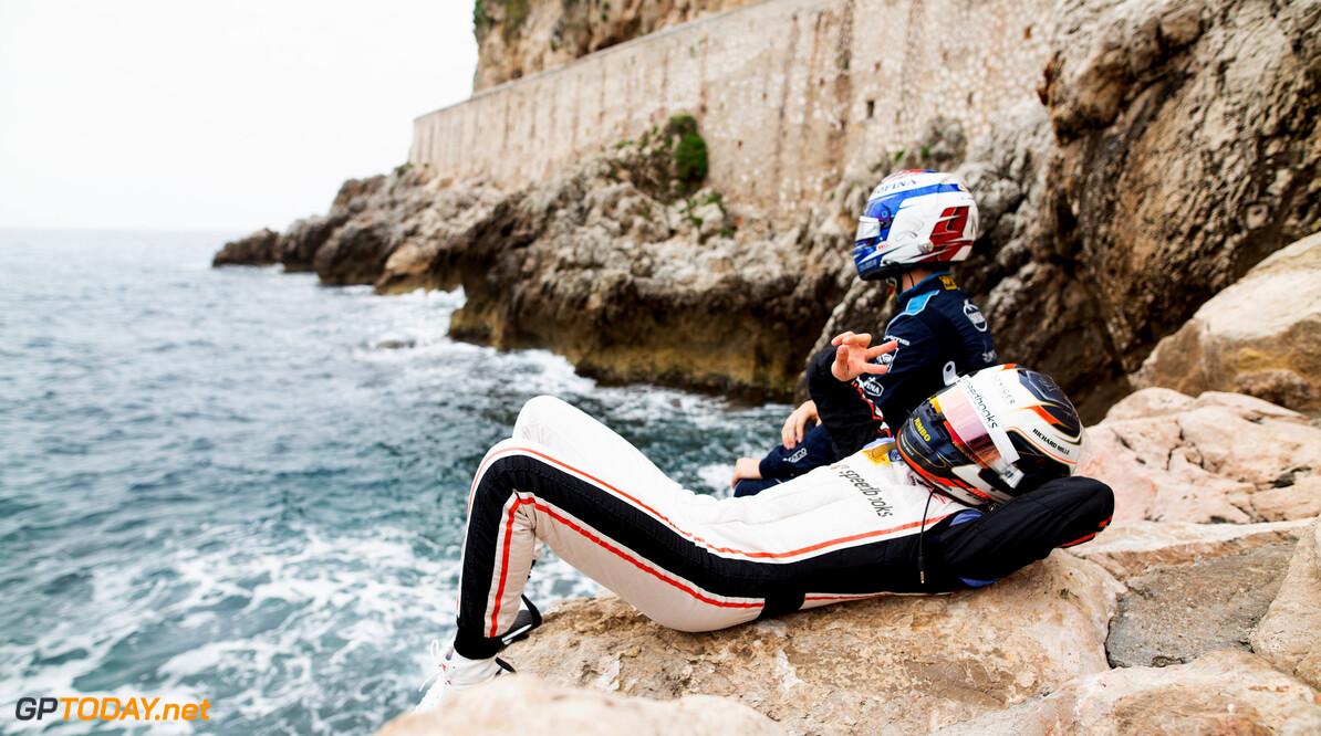 FIA Formula 2 MONTE CARLO, MONACO - MAY 22: Nicholas Latifi (CAN, DAMS) Nyck De Vries (NLD, ART GRAND PRIX) during the Monaco at Monte Carlo on May 22, 2019 in Monte Carlo, Monaco. (Photo by Joe Portlock / LAT Images / FIA F2 Championship) FIA Formula 2 Joe Portlock  Monaco