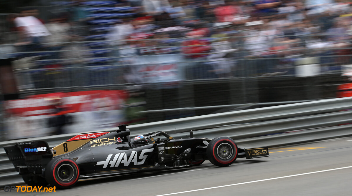 Formula One World Championship Romain Grosjean (FRA), Haas F1 Team  23.05.2019. Formula 1 World Championship, Rd 6, Monaco Grand Prix, Monte Carlo, Monaco, Practice Day. - www.xpbimages.com, EMail: requests@xpbimages.com - copy of publication required for printed pictures. Every used picture is fee-liable. (C) Copyright: Charniaux / XPB Images Motor Racing - Formula One World Championship - Monaco Grand Prix - Thursday - Monte Carlo, Monaco XPB Images Monaco Monte Carlo  Formel1 Formel F1 Formula 1 Formula1 GP Grand Prix one May Monaco Monte Carlo Monte-Carlo Thursday 23 5 05 2019 Action Track