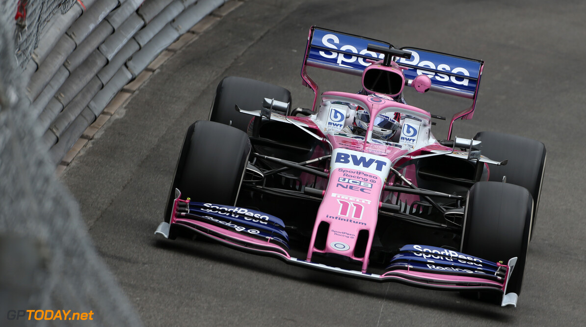 Formula One World Championship Sergio Perez (MEX), Racing Point  23.05.2019. Formula 1 World Championship, Rd 6, Monaco Grand Prix, Monte Carlo, Monaco, Practice Day. - www.xpbimages.com, EMail: requests@xpbimages.com - copy of publication required for printed pictures. Every used picture is fee-liable. (C) Copyright: Charniaux / XPB Images Motor Racing - Formula One World Championship - Monaco Grand Prix - Thursday - Monte Carlo, Monaco XPB Images Monaco Monte Carlo  Formel1 Formel F1 Formula 1 Formula1 GP Grand Prix one May Monaco Monte Carlo Monte-Carlo Thursday 23 5 05 2019 Action Track