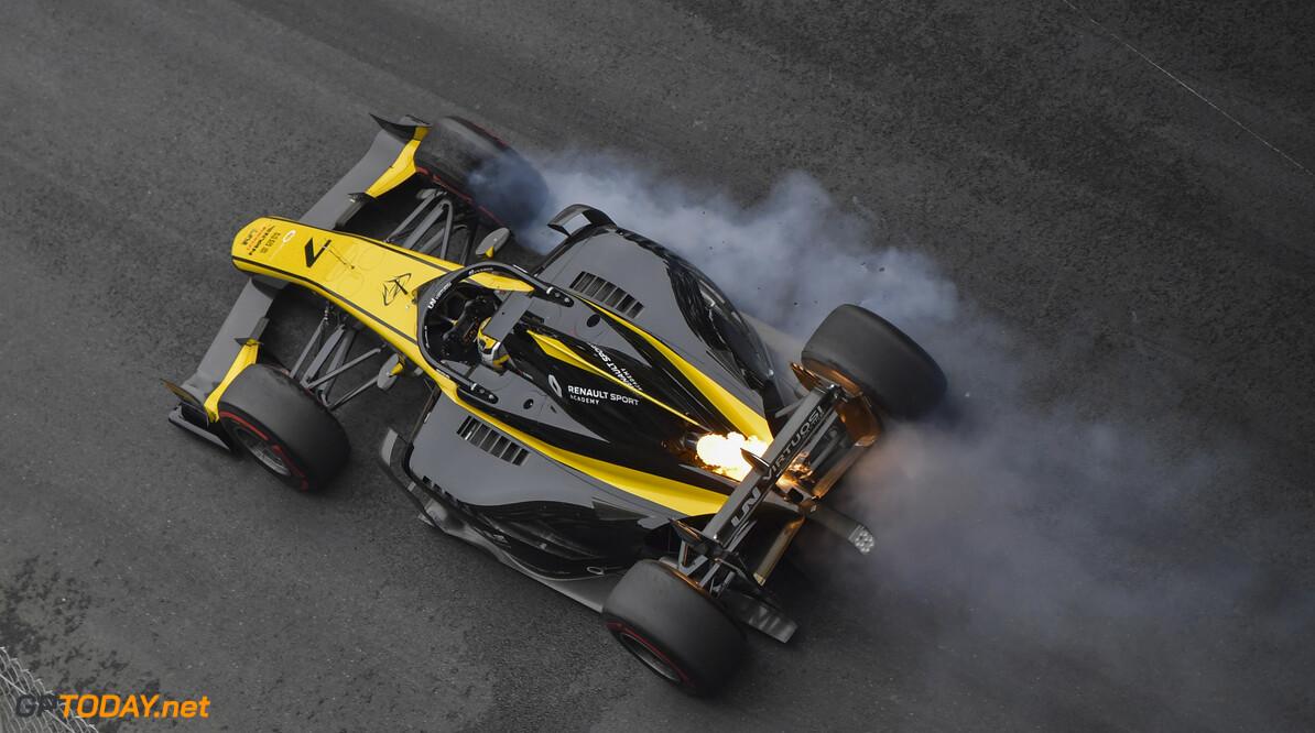 FIA Formula 2 MONTE CARLO, MONACO - MAY 24: Guanyu Zhou (CHN, UNI VIRTUOSI), locks-up a wheel during the Monaco at Monte Carlo on May 24, 2019 in Monte Carlo, Monaco. (Photo by Jerry Andre / LAT Images / FIA F2 Championship) FIA Formula 2 Jerry Andre  Monaco  action
