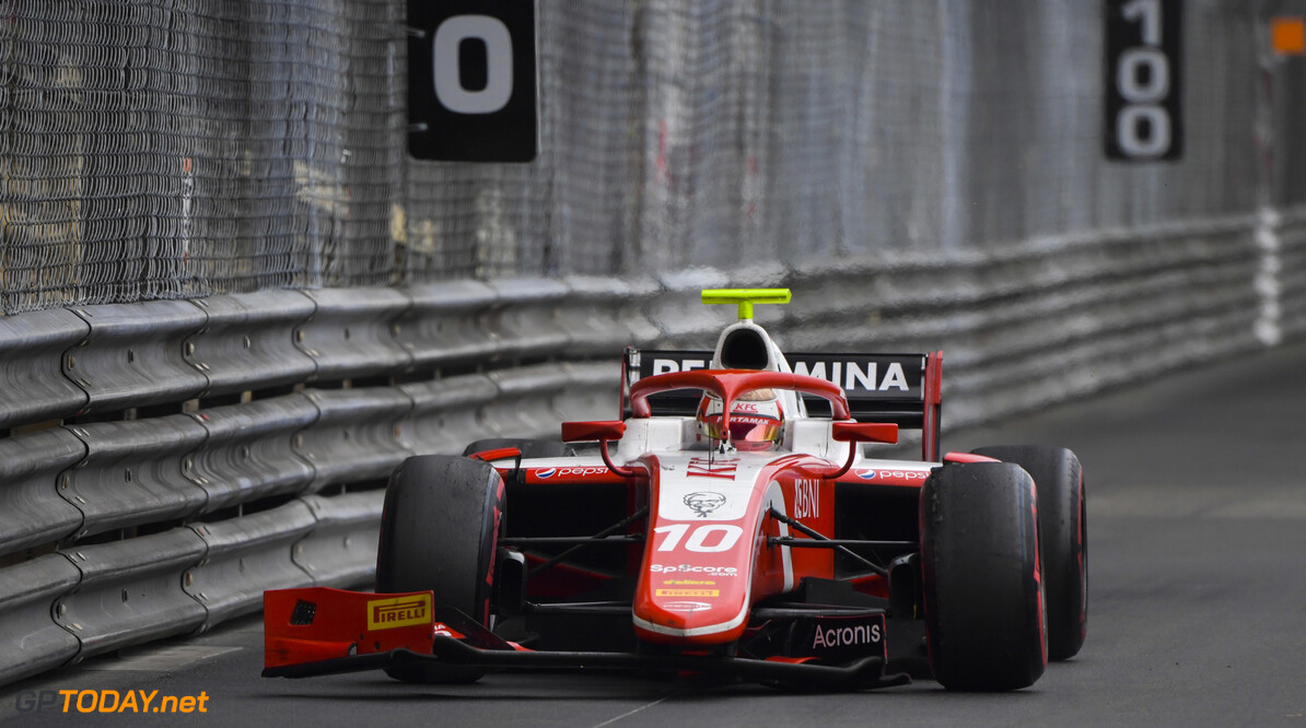 FIA Formula 2 MONTE CARLO, MONACO - MAY 24: Sean Gelael (IDN,PREMA RACING), drives with a damaged wing during the Monaco at Monte Carlo on May 24, 2019 in Monte Carlo, Monaco. (Photo by Jerry Andre / LAT Images / FIA F2 Championship) FIA Formula 2 Jerry Andre  Monaco  action
