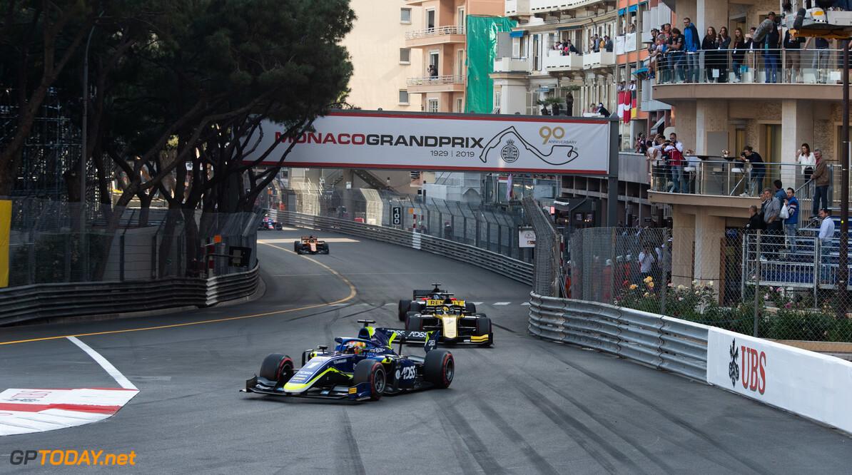 FIA Formula 2 MONTE CARLO, MONACO - MAY 25: Louis Deletraz (CHE, CARLIN) during the Monaco at Monte Carlo on May 25, 2019 in Monte Carlo, Monaco. (Photo by Joe Portlock / LAT Images / FIA F2 Championship) FIA Formula 2 Joe Portlock  Monaco