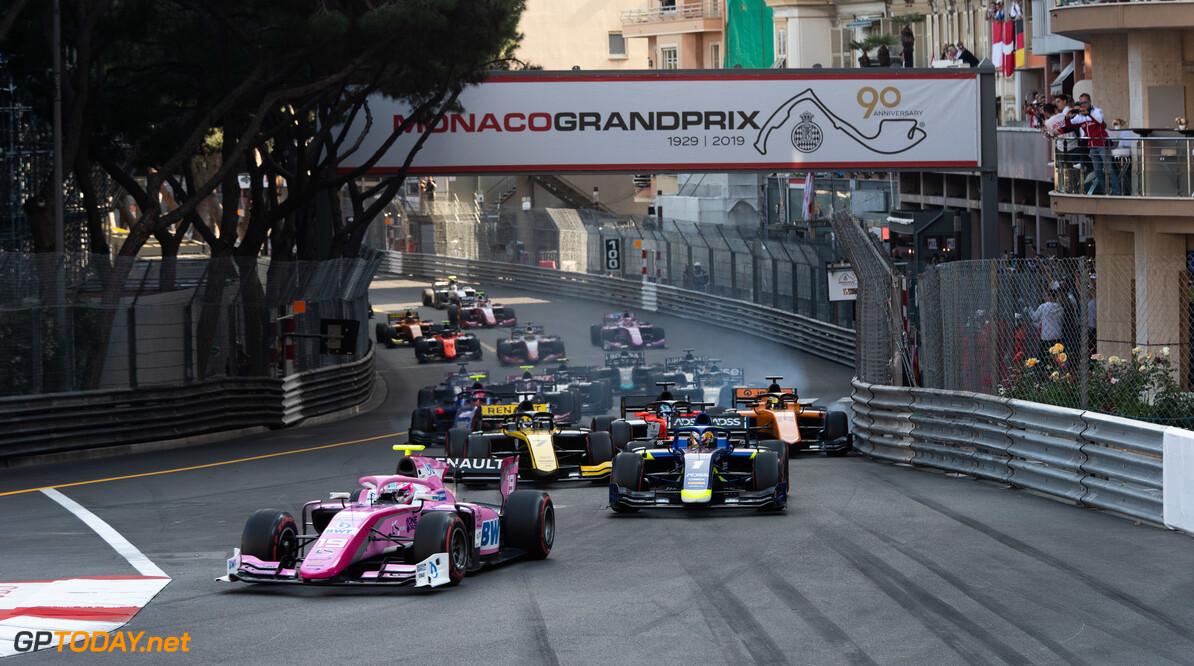 FIA Formula 2 MONTE CARLO, MONACO - MAY 25: Start of the FIA Formula 2 sprint race during the Monaco at Monte Carlo on May 25, 2019 in Monte Carlo, Monaco. (Photo by Joe Portlock / LAT Images / FIA F2 Championship) FIA Formula 2 Joe Portlock  Monaco