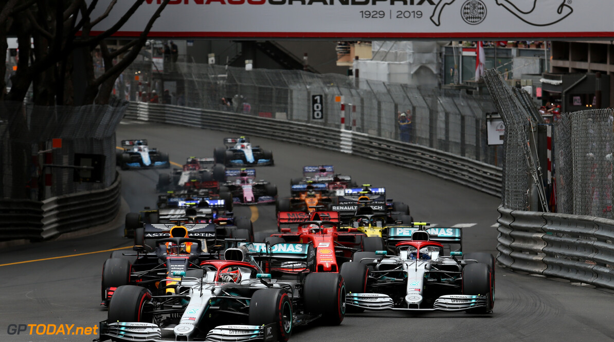 Formula One World Championship Start of the race, Lewis Hamilton (GBR), Mercedes AMG F1   26.05.2019. Formula 1 World Championship, Rd 6, Monaco Grand Prix, Monte Carlo, Monaco, Race Day. - www.xpbimages.com, EMail: requests@xpbimages.com - copy of publication required for printed pictures. Every used picture is fee-liable. (C) Copyright: Charniaux / XPB Images Motor Racing - Formula One World Championship - Monaco Grand Prix - Sunday - Monte Carlo, Monaco XPB Images Monaco Monte Carlo  Formel1 Formel F1 Formula 1 Formula1 GP Grand Prix one May Monaco Monte Carlo Monte-Carlo Sunday 26 5 05 2019 Race Action Track