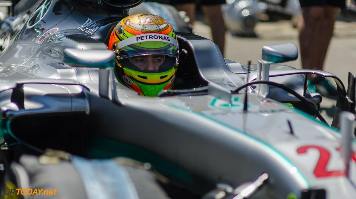 <b>Video:</b> Esteban Gutierrez drives the W07 at Sonoma Raceway