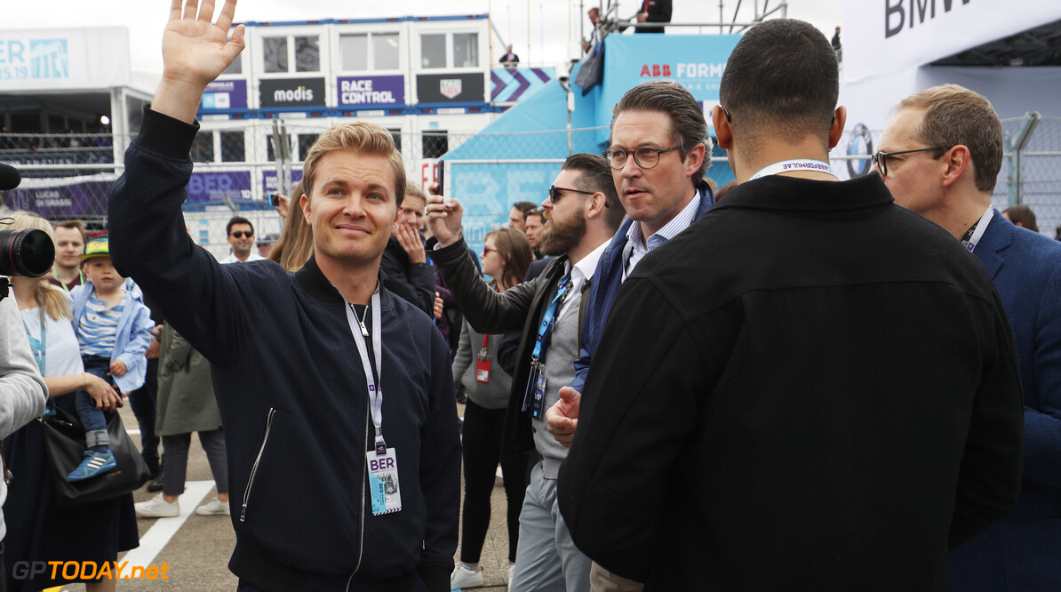 2019 Berlin E-prix BERLIN TEMPELHOF AIRPORT, GERMANY - MAY 25: Nico Rosberg on the grid during the Berlin E-prix at Berlin Tempelhof Airport on May 25, 2019 in Berlin Tempelhof Airport, Germany. (Photo by Sam Bloxham / LAT Images) 2019 Berlin E-prix Sam Bloxham  Germany  portrait ts-live electric FE open wheel