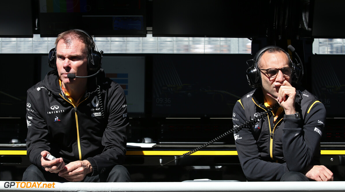 Formula One World Championship Alan Permane (GBR), Renault Sport F1 Team Trackside Operations Director and Cyril Abiteboul (FRA), Renault Sport F1 Managing Director  07.06.2019. Formula 1 World Championship, Rd 5, Spanish Grand Prix, Barcelona, Spain, Practice Day. - www.xpbimages.com, EMail: requests@xpbimages.com - copy of publication required for printed pictures. Every used picture is fee-liable. (C) Copyright: Charniaux / XPB Images Motor Racing - Formula One World Championship - Canadian Grand Prix - Practice Day - Montreal, Canada XPB Images Montreal Canada  Formel1 Formel F1 Formula 1 Formula1 GP Grand Prix one Canada Canadian Montreal Ille Notre Dame Circuit June Friday 07 7 6 06 2019 Portrait