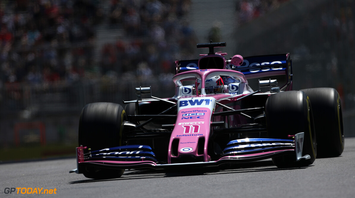 Formula One World Championship Sergio Perez (MEX), Racing Point  07.06.2019. Formula 1 World Championship, Rd 5, Spanish Grand Prix, Barcelona, Spain, Practice Day. - www.xpbimages.com, EMail: requests@xpbimages.com - copy of publication required for printed pictures. Every used picture is fee-liable. (C) Copyright: Charniaux / XPB Images Motor Racing - Formula One World Championship - Canadian Grand Prix - Practice Day - Montreal, Canada XPB Images Montreal Canada  Formel1 Formel F1 Formula 1 Formula1 GP Grand Prix one Canada Canadian Montreal Ille Notre Dame Circuit June Friday 07 7 6 06 2019 Action Track