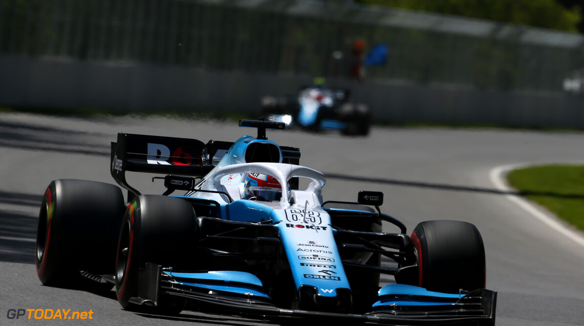 Formula One World Championship George Russell (GBR), Williams F1 Team  08.06.2019. Formula 1 World Championship, Rd 7, Canadian Grand Prix, Montreal, Canada, Qualifying Day. - www.xpbimages.com, EMail: requests@xpbimages.com - copy of publication required for printed pictures. Every used picture is fee-liable. (C) Copyright: Charniaux / XPB Images Motor Racing - Formula One World Championship - Canadian Grand Prix - Qualifying Day - Montreal, Canada XPB Images Montreal Canada  Formel1 Formel F1 Formula 1 Formula1 GP Grand Prix one Canada Canadian Montreal Ille Notre Dame Circuit June Saturday 08 8 06 6 2019 Practice Action Track