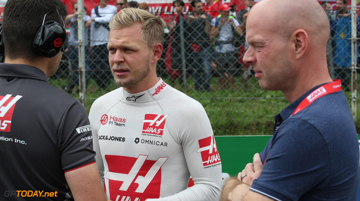 Formula One World Championship Kevin Magnussen (DEN) Haas VF-18 and his father Jan.