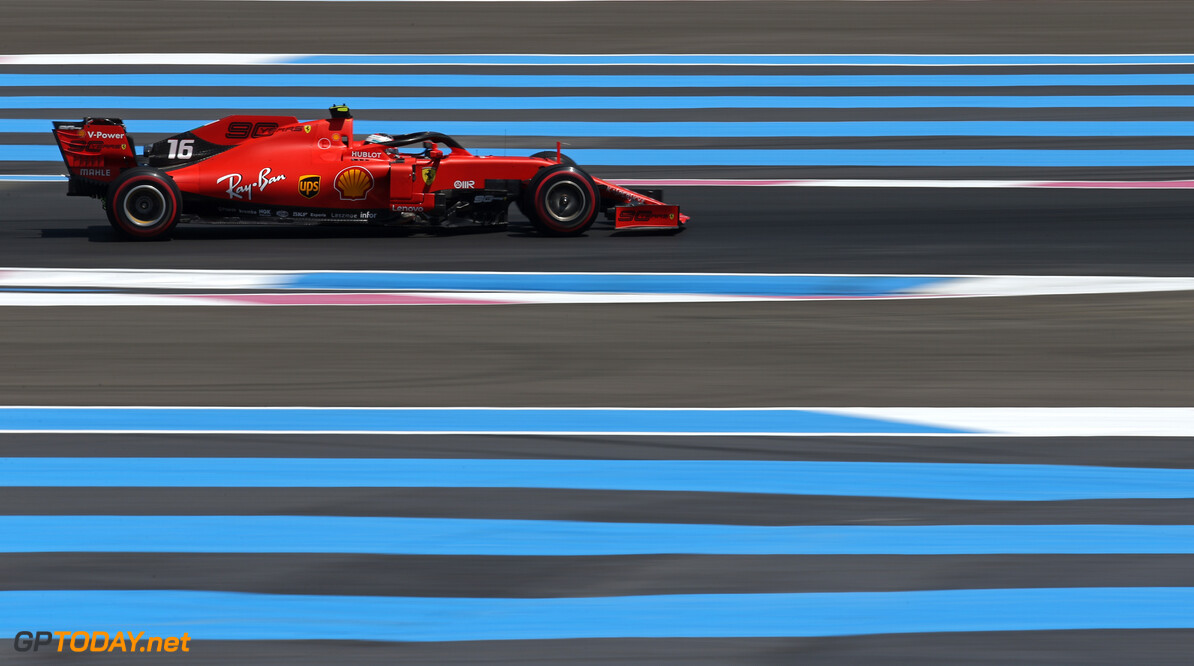 Formula One World Championship Charles Leclerc (FRA), Scuderia Ferrari  21.06.2019. Formula 1 World Championship, Rd 8, French Grand Prix, Paul Ricard, France, Practice Day. - www.xpbimages.com, EMail: requests@xpbimages.com - copy of publication required for printed pictures. Every used picture is fee-liable. (C) Copyright: Charniaux / XPB Images Motor Racing - Formula One World Championship - French Grand Prix - Practice Day - Paul Ricard, France XPB Images Le Castellet France  Formel1 Formel F1 Formula 1 Formula1 GP Grand Prix one Friday June France French Circuit Paul Ricard Le Castellet 21 06 6 2019 Action Track