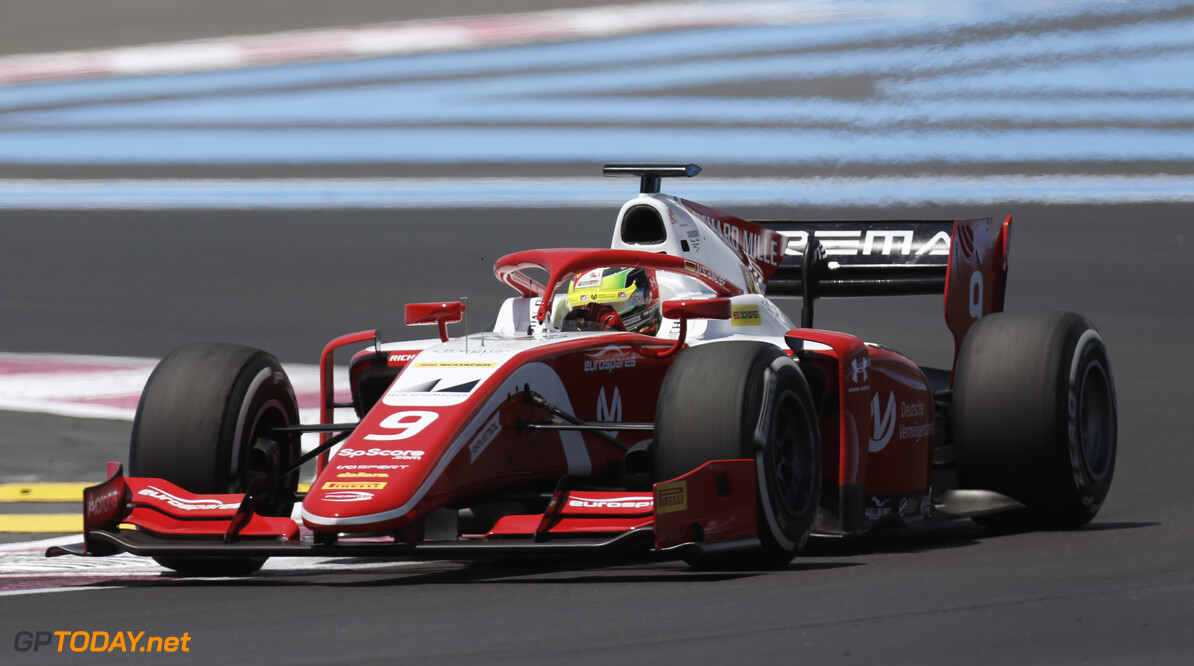 FIA Formula 2 CIRCUIT PAUL RICARD, FRANCE - JUNE 21: Mick Schumacher (DEU, PREMA RACING) during the Paul Ricard at Circuit Paul Ricard on June 21, 2019 in Circuit Paul Ricard, France. (Photo by Joe Portlock / LAT Images / FIA F2 Championship) FIA Formula 2 Joe Portlock  France  action practice