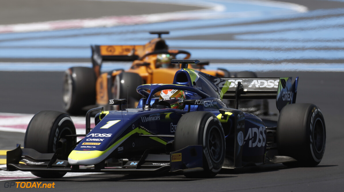 FIA Formula 2 CIRCUIT PAUL RICARD, FRANCE - JUNE 21: Louis Deletraz (CHE, CARLIN) during the Paul Ricard at Circuit Paul Ricard on June 21, 2019 in Circuit Paul Ricard, France. (Photo by Joe Portlock / LAT Images / FIA F2 Championship) FIA Formula 2 Joe Portlock  France  action practice