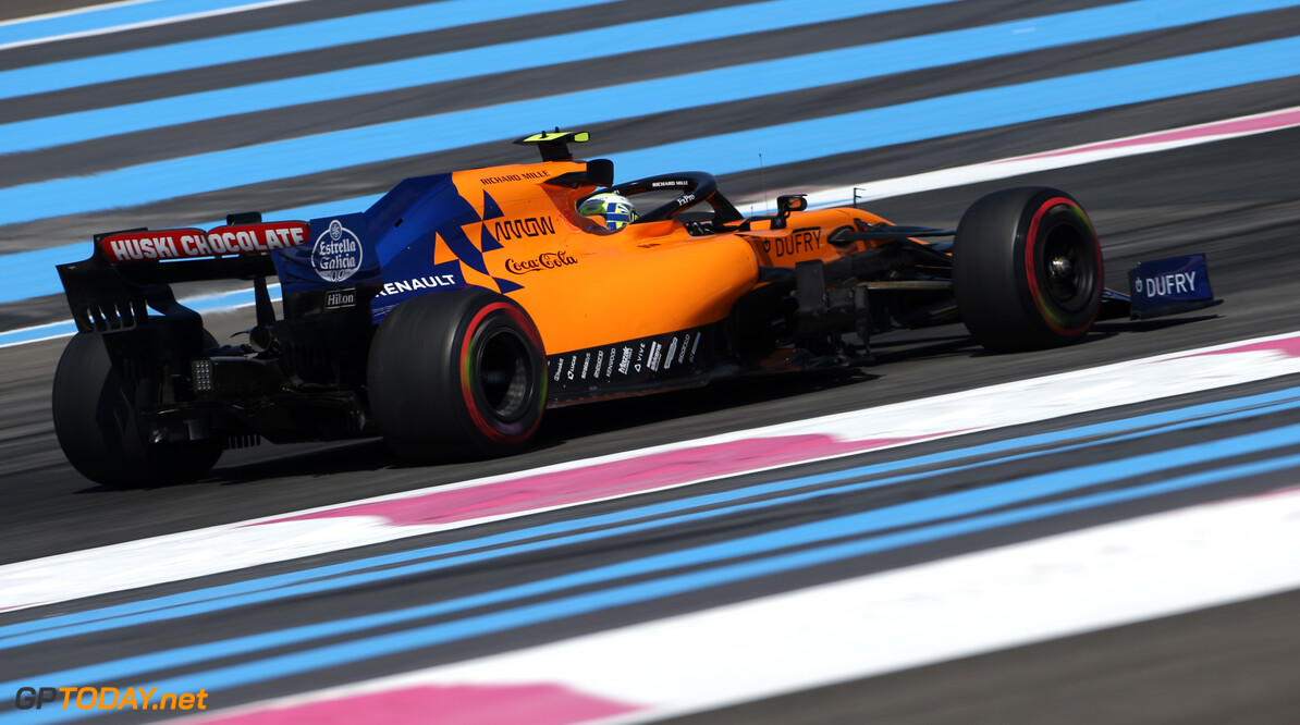 Formula One World Championship Lando Norris (GBR), McLaren F1 Team  21.06.2019. Formula 1 World Championship, Rd 8, French Grand Prix, Paul Ricard, France, Practice Day. - www.xpbimages.com, EMail: requests@xpbimages.com - copy of publication required for printed pictures. Every used picture is fee-liable. (C) Copyright: Charniaux / XPB Images Motor Racing - Formula One World Championship - French Grand Prix - Practice Day - Paul Ricard, France XPB Images Le Castellet France  Formel1 Formel F1 Formula 1 Formula1 GP Grand Prix one Friday June France French Circuit Paul Ricard Le Castellet 21 06 6 2019 Action Track