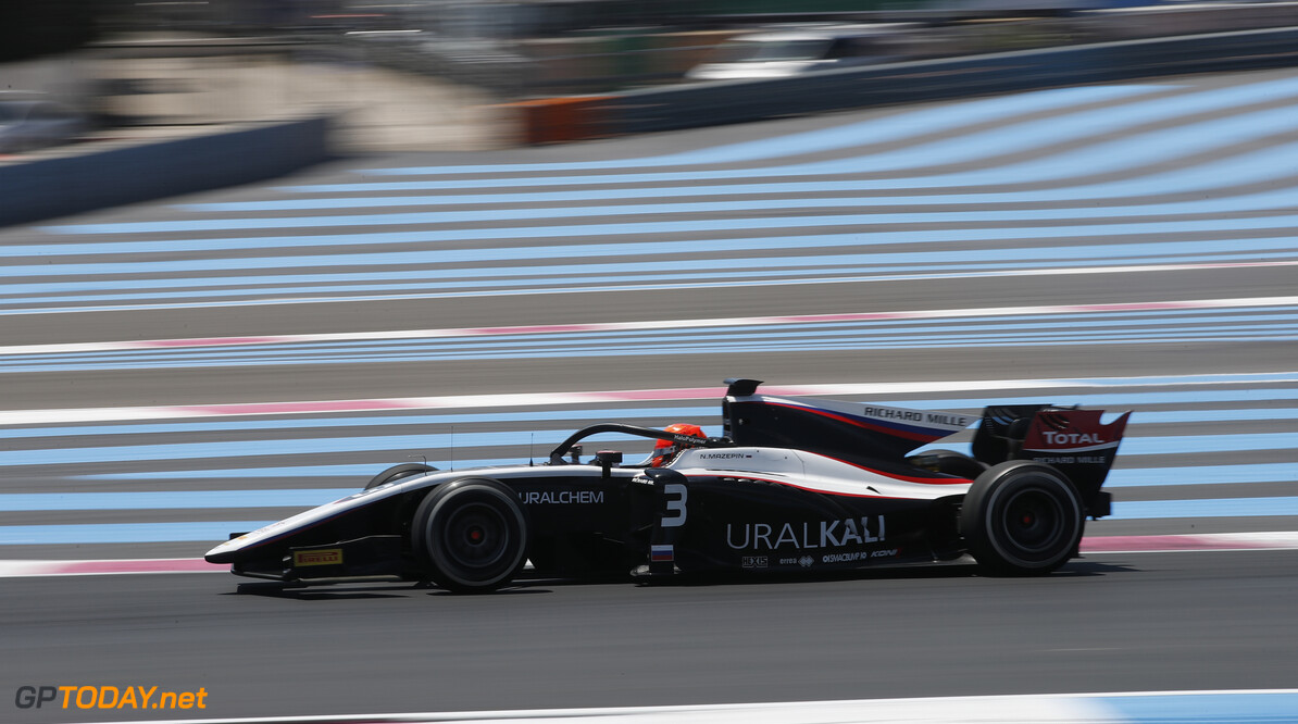 FIA Formula 2 CIRCUIT PAUL RICARD, FRANCE - JUNE 21: Nikita Mazepin (RUS, ART Grand Prix) during the Paul Ricard at Circuit Paul Ricard on June 21, 2019 in Circuit Paul Ricard, France. (Photo by Joe Portlock / LAT Images / FIA F2 Championship) FIA Formula 2 Joe Portlock  France  action practice