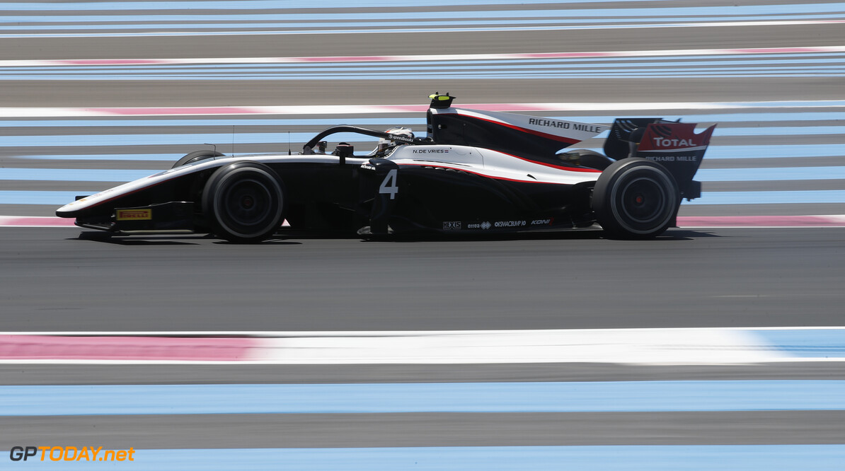 FIA Formula 2 CIRCUIT PAUL RICARD, FRANCE - JUNE 21: Nyck De Vries (NLD, ART GRAND PRIX) during the Paul Ricard at Circuit Paul Ricard on June 21, 2019 in Circuit Paul Ricard, France. (Photo by Joe Portlock / LAT Images / FIA F2 Championship) FIA Formula 2 Joe Portlock  France  action practice