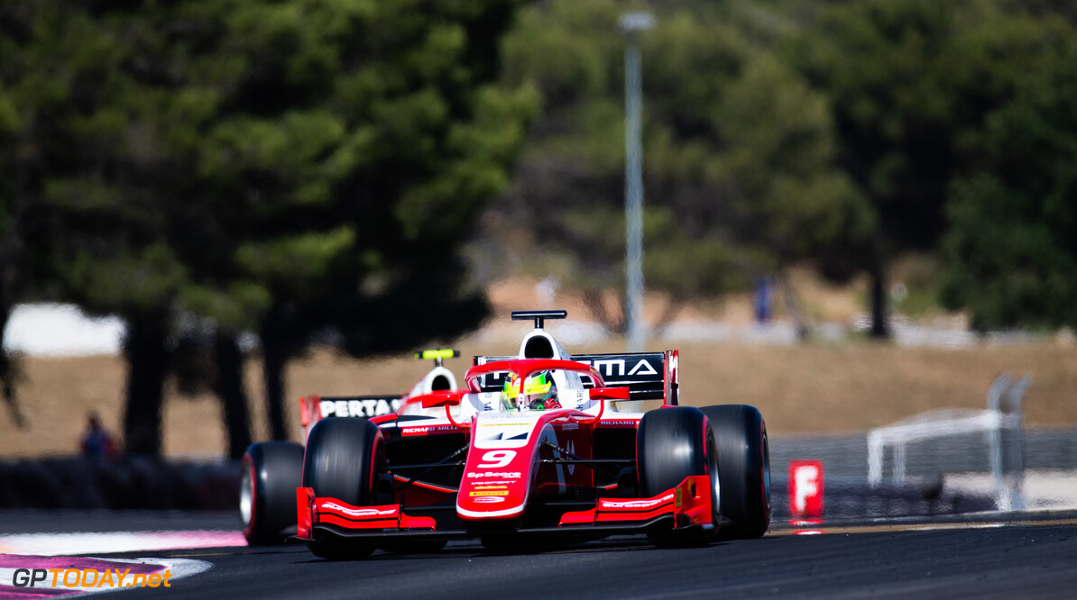 FIA Formula 2 CIRCUIT PAUL RICARD, FRANCE - JUNE 21: Mick Schumacher (DEU, PREMA RACING) during the Paul Ricard at Circuit Paul Ricard on June 21, 2019 in Circuit Paul Ricard, France. (Photo by Joe Portlock / LAT Images / FIA F2 Championship) FIA Formula 2 Joe Portlock  France  FIA Formula 2