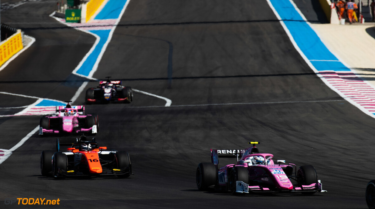 FIA Formula 2 CIRCUIT PAUL RICARD, FRANCE - JUNE 22: Anthoine Hubert (FRA, BWT ARDEN) and Artem Markelov (RUS, MP MOTORSPORT) during the Paul Ricard at Circuit Paul Ricard on June 22, 2019 in Circuit Paul Ricard, France. (Photo by Joe Portlock / LAT Images / FIA F2 Championship) FIA Formula 2 Joe Portlock  France  FIA Formula 2