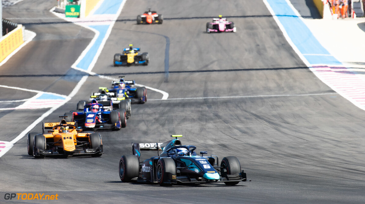FIA Formula 2 CIRCUIT PAUL RICARD, FRANCE - JUNE 22: Nicholas Latifi (CAN, DAMS) and Dorian Boccolacci (FRA, CAMPOS RACING) during the Paul Ricard at Circuit Paul Ricard on June 22, 2019 in Circuit Paul Ricard, France. (Photo by Joe Portlock / LAT Images / FIA F2 Championship) FIA Formula 2 Joe Portlock  France  FIA Formula 2
