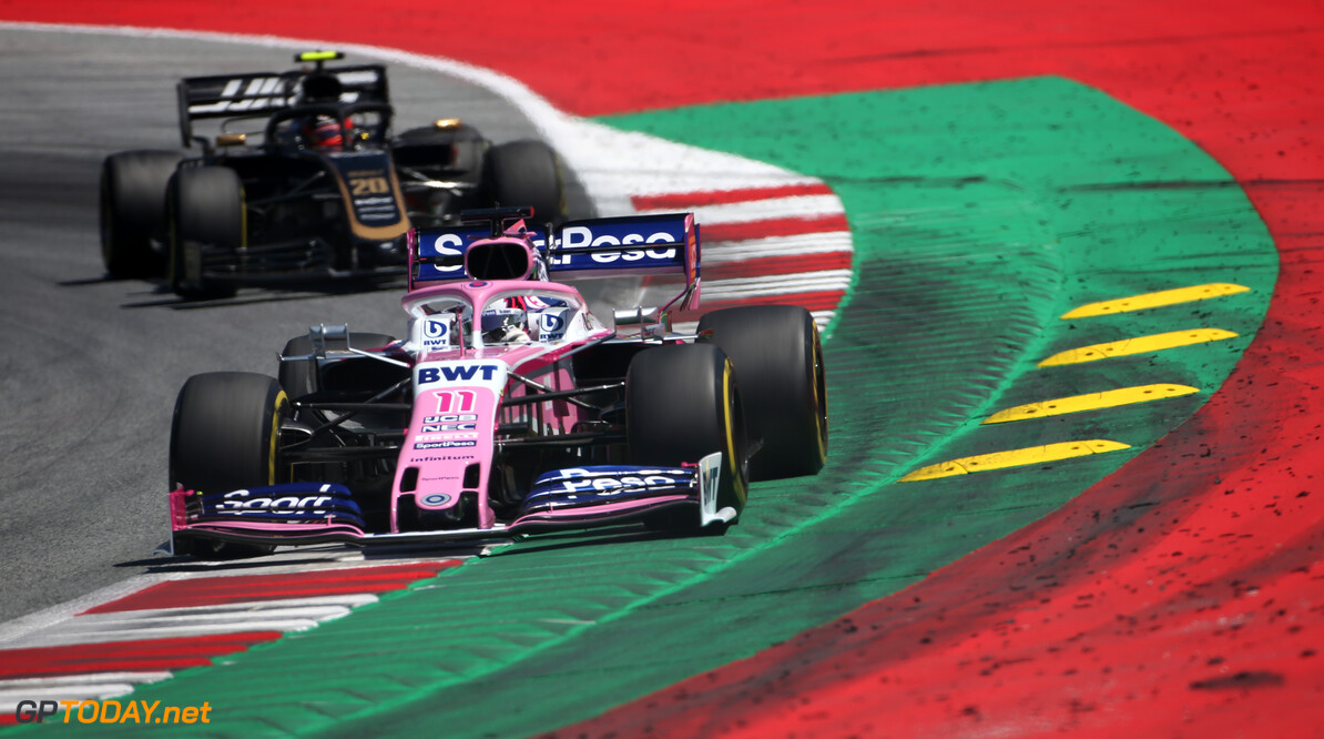 Formula One World Championship Sergio Perez (MEX), Racing Point  29.06.2019. Formula 1 World Championship, Rd 9, Austrian Grand Prix, Spielberg, Austria, Qualifying Day. - www.xpbimages.com, EMail: requests@xpbimages.com - copy of publication required for printed pictures. Every used picture is fee-liable. (C) Copyright: Charniaux / XPB Images Motor Racing - Formula One World Championship - Austrian Grand Prix - Qualifying Day - Spielberg, Austria xpbimages.com Spielberg Austria  Formel1 Formel F1 Formula 1 Formula1 GP Grand Prix one Circuit Austria Austrian Spielberg Zeltweg Saturday June 29 06 6 2019 Practice Action Track