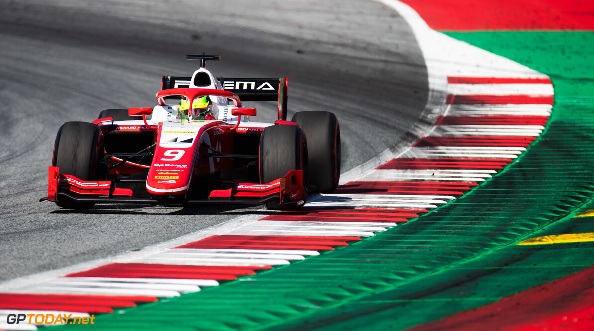 FIA Formula 2 RED BULL RING, AUSTRIA - JUNE 29: Mick Schumacher (DEU, PREMA RACING) during the Spielberg at Red Bull Ring on June 29, 2019 in Red Bull Ring, Austria. (Photo by Joe Portlock / LAT Images / FIA F2 Championship) FIA Formula 2 Joe Portlock  Austria  FIA Formula 2