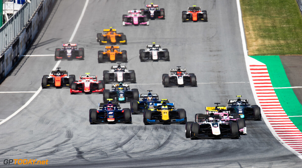 FIA Formula 2 RED BULL RING, AUSTRIA - JUNE 29: Start of the FIA Formula 2 race during the Spielberg at Red Bull Ring on June 29, 2019 in Red Bull Ring, Austria. (Photo by Joe Portlock / LAT Images / FIA F2 Championship) FIA Formula 2 Joe Portlock  Austria  FIA Formula 2