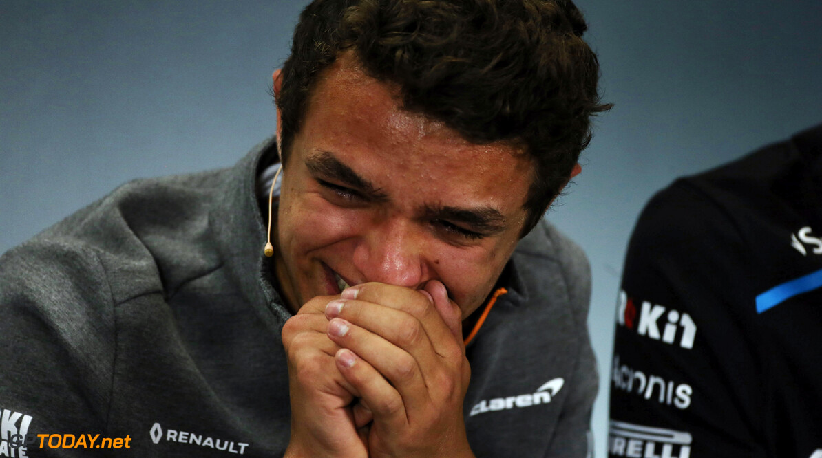 <b>Video:</b> Norris loses control during FIA press conference
