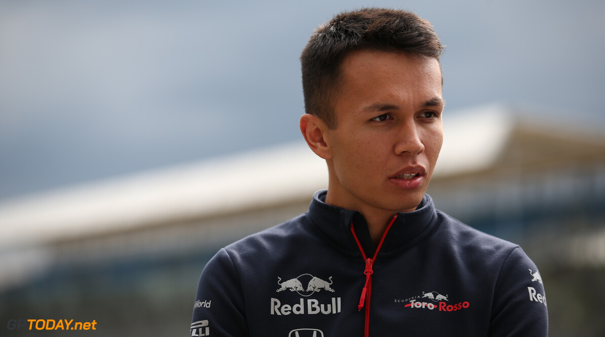 Formula One World Championship Alexander Albon (THA) Scuderia Toro Rosso STR14. 11.07.2019. Formula 1 World Championship, Rd 10, British Grand Prix, Silverstone, England, Preparation Day. - www.xpbimages.com, EMail: requests@xpbimages.com - copy of publication required for printed pictures. Every used picture is fee-liable. (C) Copyright: Batchelor / XPB Images Motor Racing - Formula One World Championship - British Grand Prix - Preparation Day - Silverstone, England XPB Images Silverstone England  Formel1 Formel F1 Formula 1 Formula1 GP Grand Prix one Thursday Portrait Circuit Silverstone England Britain British United Kingdom UK 11 07 7 2019