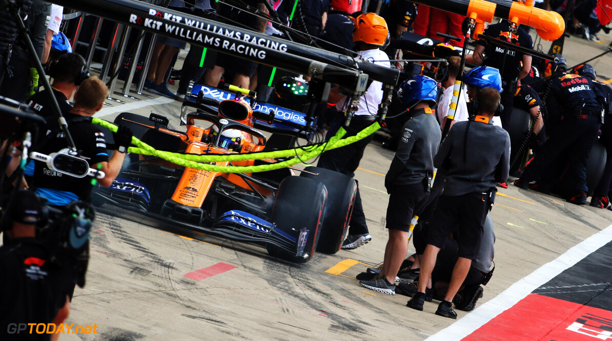 Norris hampered by bad strategy at Silverstone