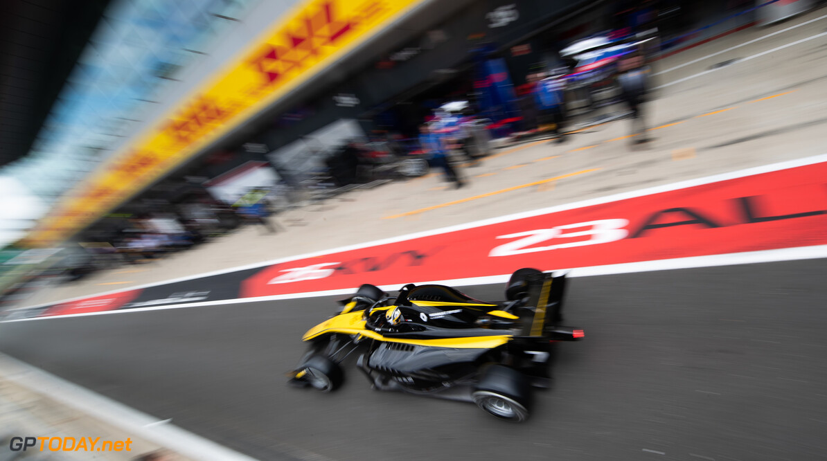 FIA Formula 2 SILVERSTONE, UNITED KINGDOM - JULY 12: Guanyu Zhou (CHN, UNI VIRTUOSI) during the Silverstone at Silverstone on July 12, 2019 in Silverstone, United Kingdom. (Photo by Colin McMaster) FIA Formula 2 Colin McMaster  United Kingdom  Action